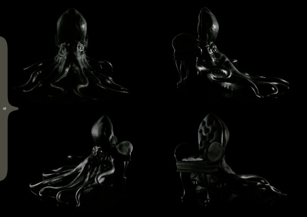 black octopus chair